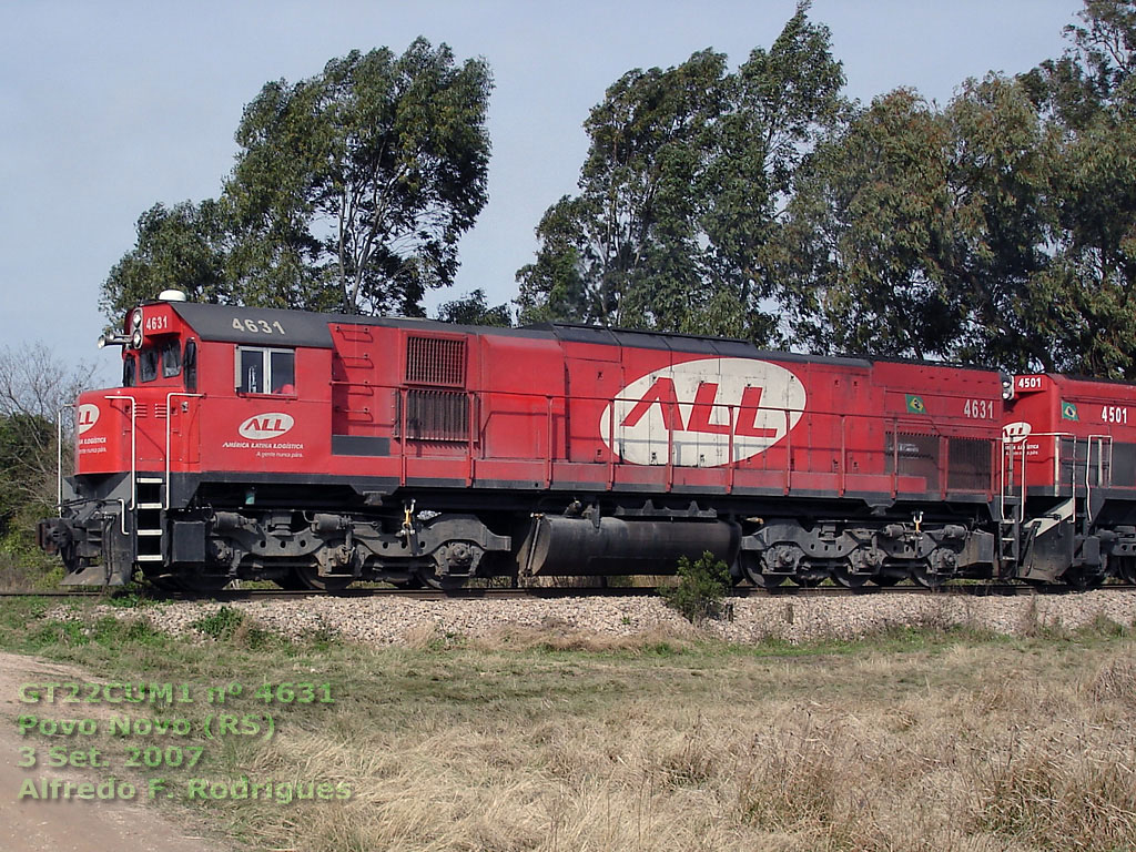 Locomotiva GT22CUM1 nº 4631 da ferrovia ALL em Pelotas (RS), 3 Set. 2007, by Alfredo F. Rodrigues