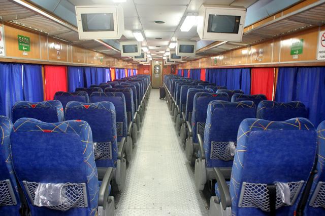 Interior de um vagão da classe Executiva do Trem São Luís - Parauapebas