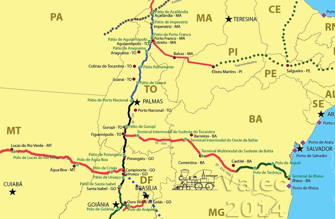 Ferrovia Norte-Sul   A espinha dorsal do novo sistema ferroviário do ... 046db4a0d2