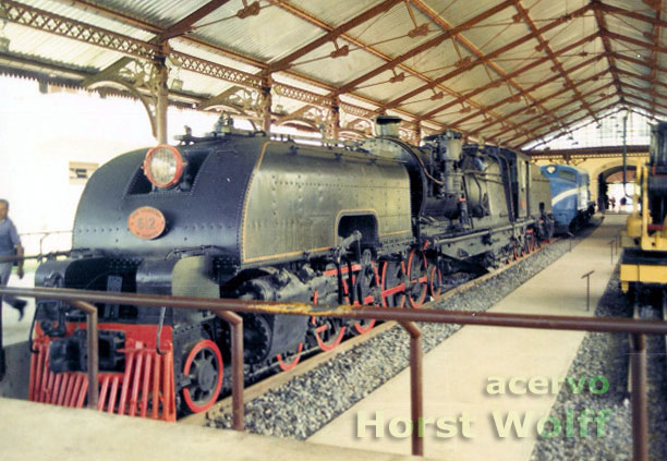 Locomotiva Garrat nº 612 no Museu do Trem, no Recife