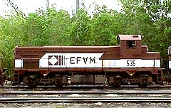 Locomotiva G12 EFVM #535 Cabeçuda (Big Head)