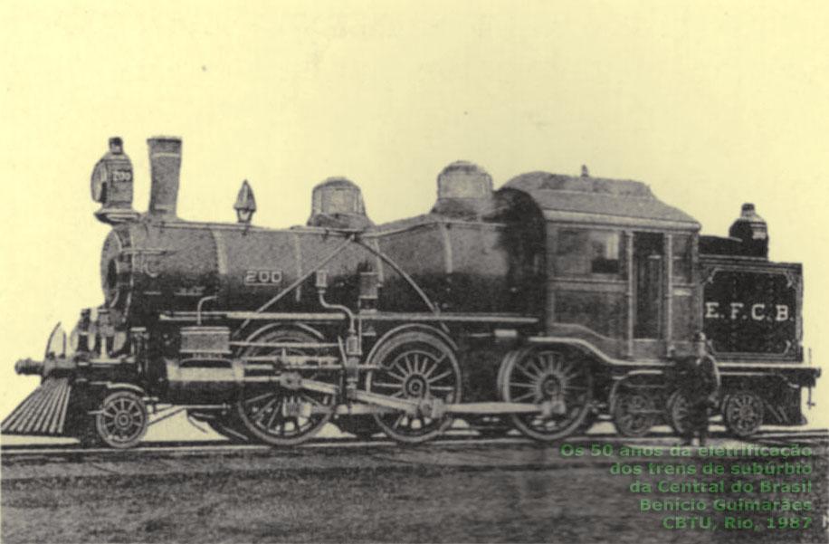 locomotiva brooks estrada de ferro central do brasil os trens de