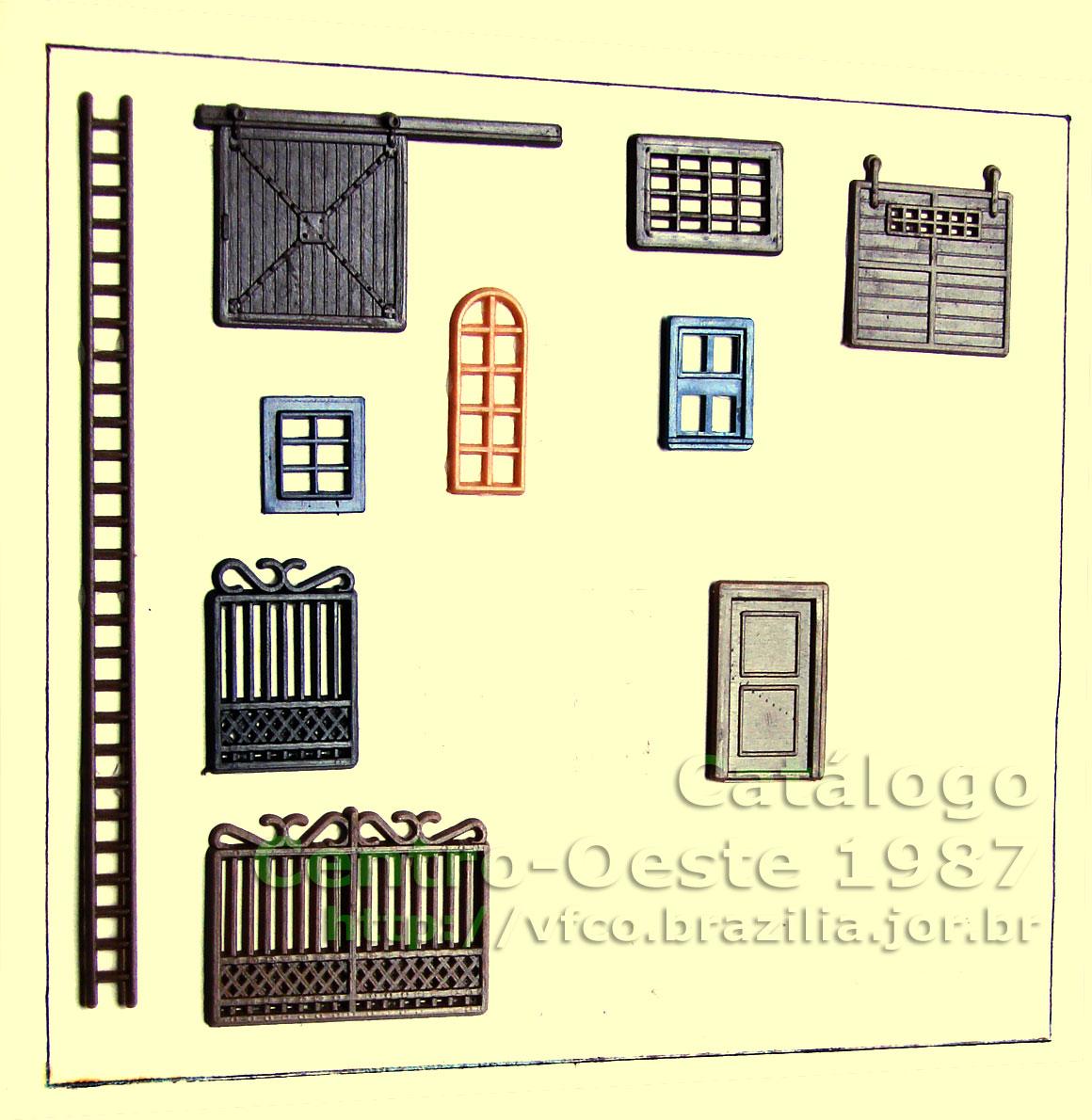 #C4C407  de plástico injetado da Miniaturas Artesanais para decoração de 1722 Janela De Alumínio Niteroi