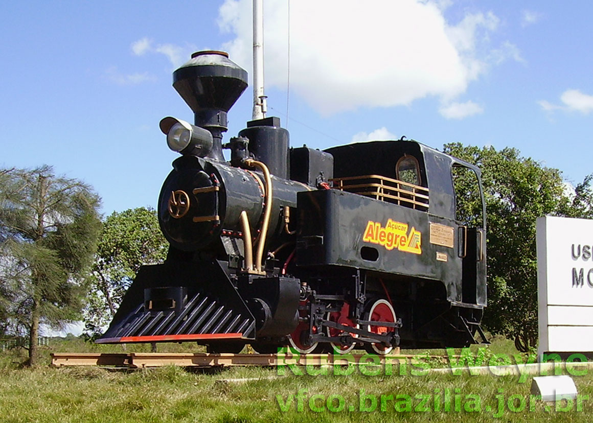 Locomotiva a vapor Jung da Usina Monte Alegre, na Paraíba