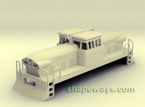 Maquete virtual do ferreomodelo HO de locomotiva GMDH-1 oferecido pela Shapeways
