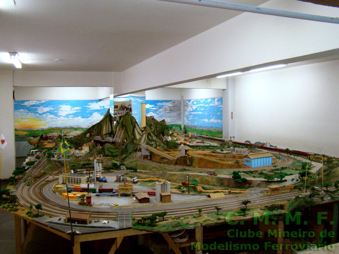 Maquete do Clube Mineiro de Modelismo Ferroviário