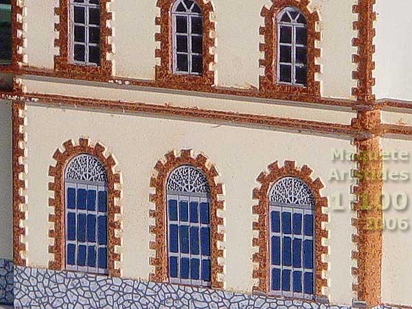Miniatura da maquete ferroviária de Mariana