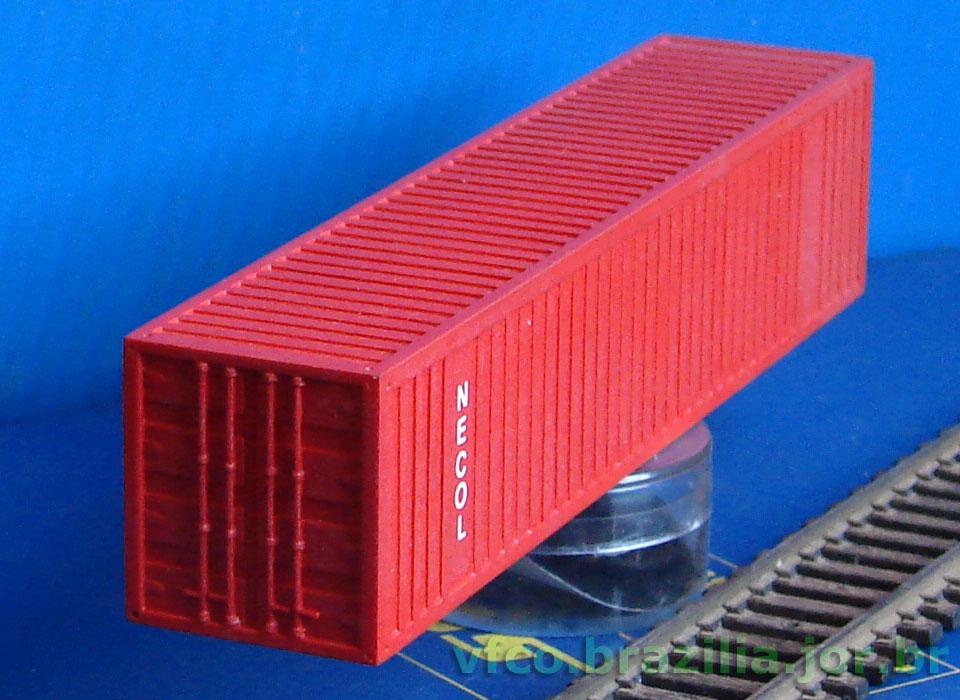Acabamento e pintura do container ferreomodelismo for Container oficina