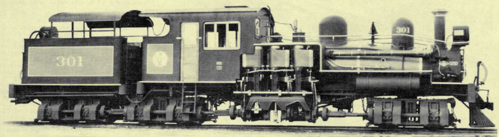 Locomotiva Shay da Estrada de Ferro Oeste de Minas